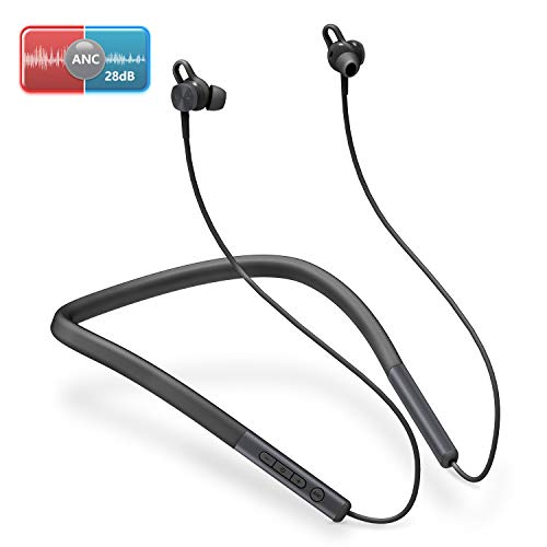 bomow Active Noise Cancelling Headphones, Neckband in-Ear Bluetooth 5.0...