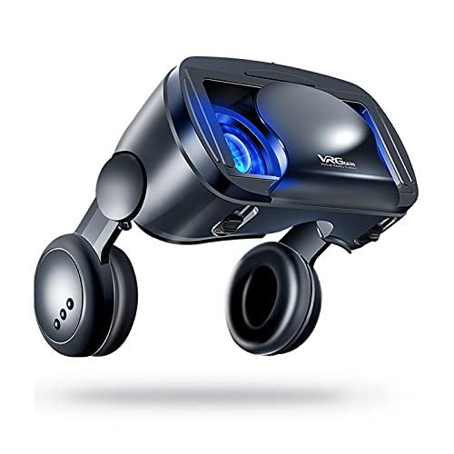 WXHXSRJ Auriculares VR, Realidad Virtual con Gafas 3D VR, compatibles con teléfonos Inteligentes de 5 a 7 Pulgadas, para películas y Juegos en 3D