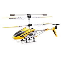 Stable Flight Characteristics Easy to Fly Great for Beginners Battery Type: Lithium Polymer (LiPO Battery) Motor Type: Brushed 3 Channels for moving forward/reverse and turn left and right Additional 0.5 channel to control the lights S107 and S107G d...
