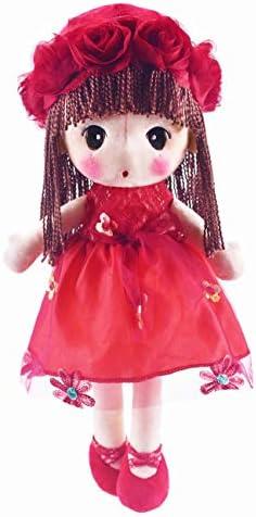 HWD Kawaii Stuffed Soft Flower Girl Plush Toy Doll Girls Gift , 18 Inch ( Green )