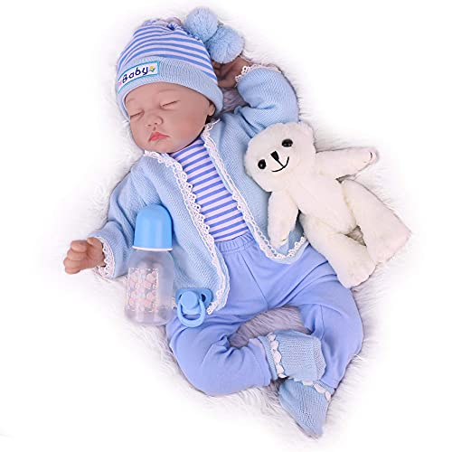 CHAREX Reborn Baby Dolls, 22 Inch Lifelike Baby Doll Boy, Cute Realistic Newborn Baby Doll That Look Real, Adorable Vinyl Reborn Dolls Gift Set for Kids Age 3+