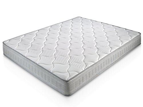 Matelas Paris 140X190 à mémoire de forme | 18 cm Épaisseur | 2 cm de mousse à mémoire de forme de 65 kg/m3 | Foam AirSistem | Extrêmement durable | Certification ISO 9001®