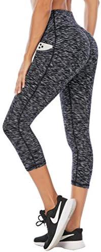IUGA Capri Leggings for Women with Pockets High Waist Yoga Pants Workout Leggings for Women product image