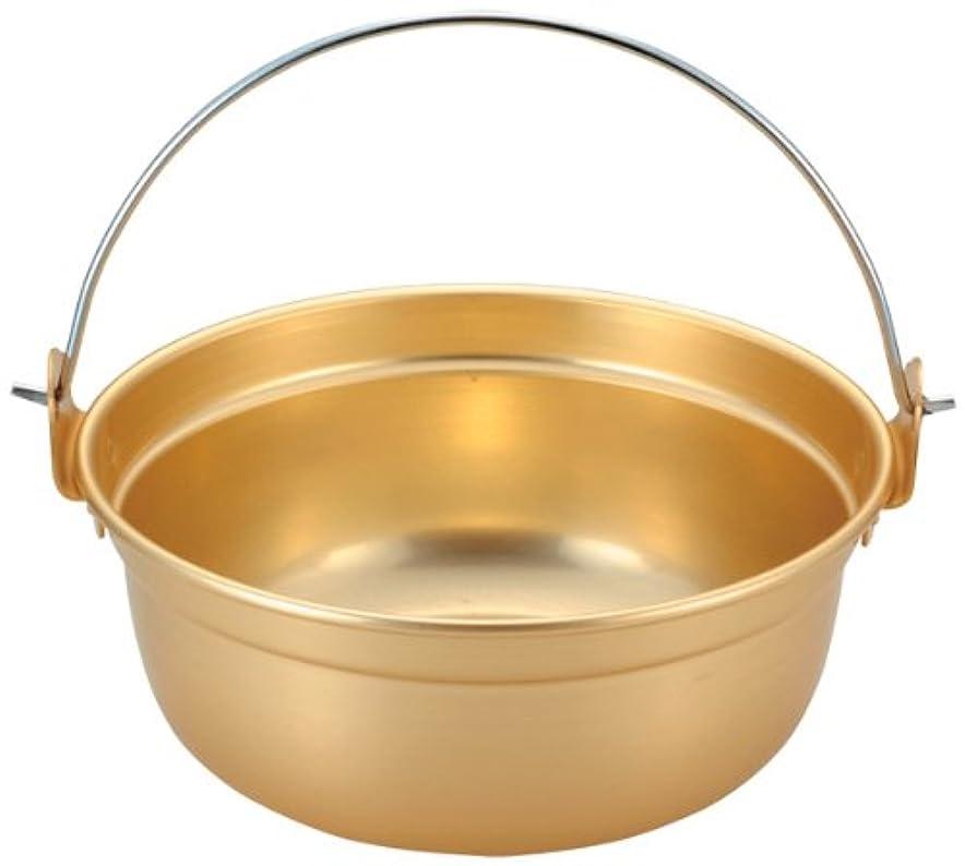 チョップ一般的に言えば直立アルマイト ツル付段付鍋 27cm
