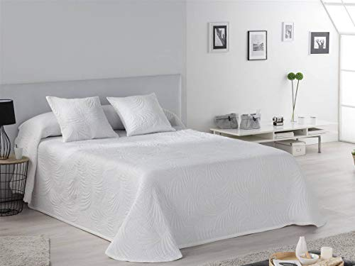 Tejidos JVR - Colcha piqué Lido - Cama 150 cm - Color Blanco