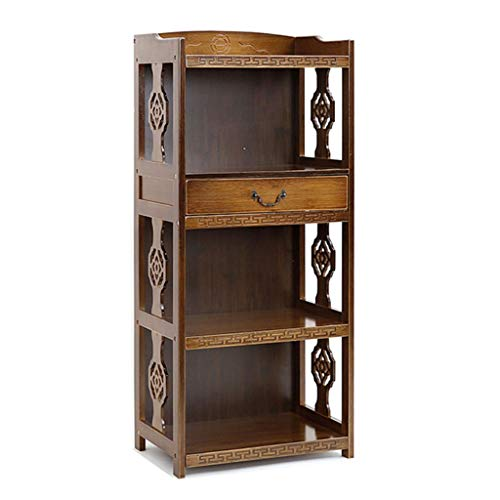 Bookcases Shelves Solid Wood Antique Lockers Creative Drawer Office Free Combination Written Sundries Children's Reading Racks The Best Gift (Color : Brown, Size : 2842113)