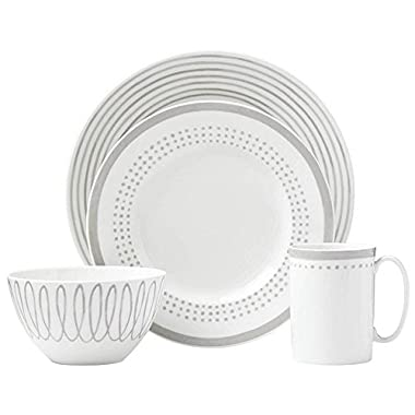 Kate Spade New York (867918) Charlotte Street East Grey 4pc Place Setting, White