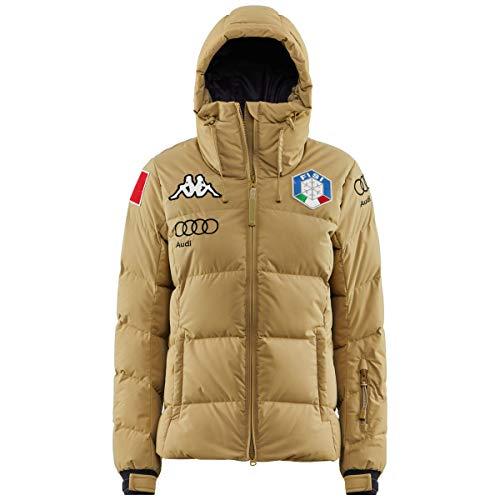 Kappa Daunenjacke für Damen, italienische Nationalmannschaft, 6CENTO 666, Italien, beige, blau, 304JQU0, Größe S