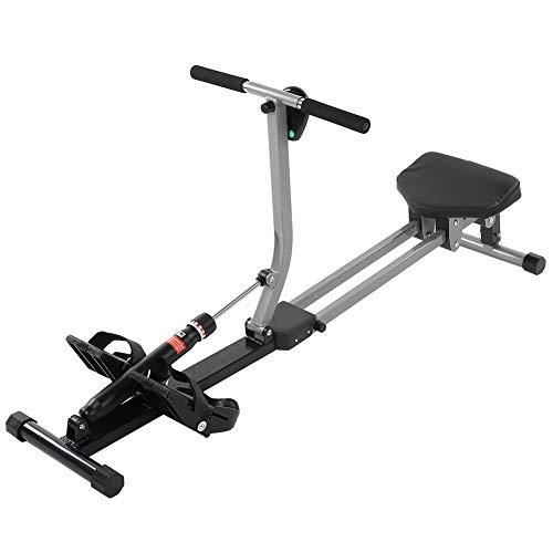 Máquina de remo profesional para fitness en casa con pantalla LCD, cardio de remo unisex con resistencia ajustable Rowing Machine profesional para fitness, 142 x 37,5 x 14 cm