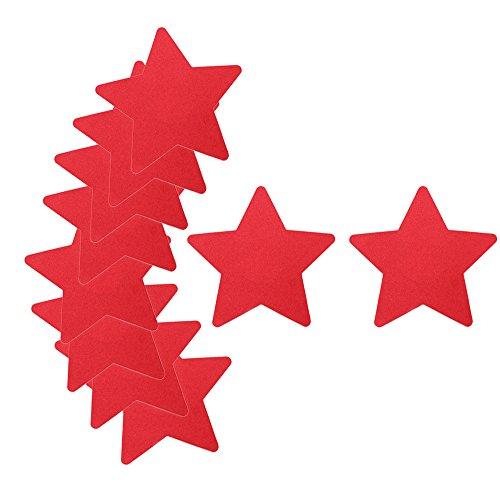 COM-FOUR® 10x tepelbeschermer, tepelbeschermer 84 x 80 mm ster in rood (10 stuks - ster rood)