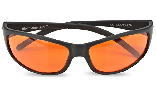 Blue Blocking Amber Glasses for Sleep - BioRhythm Safe(TM) - Nighttime Eye Wear - Special Orange Tinted Glasses Help You Sleep and Relax Your Eyes