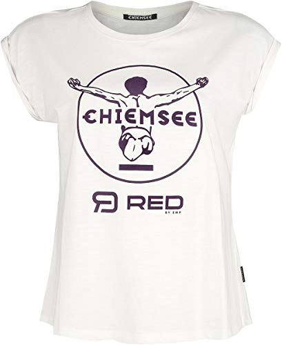 R.E.D. by EMP Red X CHIEMSEE - Camiseta Blanca Estampada Mujer Camiseta Blanco S, 100% algodón, Regular