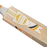 Newbery Cricket Force Bate de Críquet, Unisex-Youth, Blanco/Naranja, Talla 3