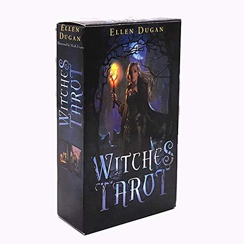 JJSFJH El Libro Esencial del Tarot y el Juego de Cartas Witches Sha do wscapes Tarot