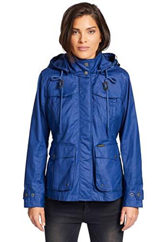 khujo Damen Jacke Malak leichte Übergangsjacke aus Baumwolle mit Abnehmbarer Kapuze