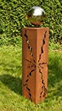 Rostsäulen Gartendeko Stehle Rost Säule 60cm Garten Skulptur
