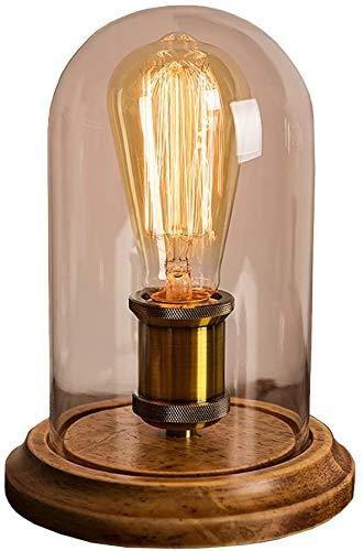 Vintage bureaulamp glazen kap tafellamp
