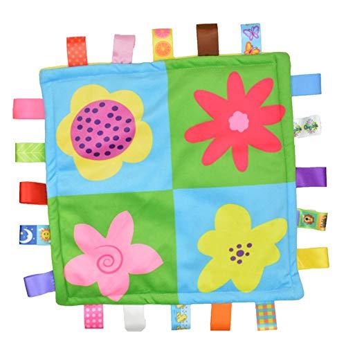 Crystallly Baby Tag Gy deken veiligheid trooster deken Original Taggies Tag eenvoudige stijl knuffeldoek met meerkleurige bloemen gedrukt
