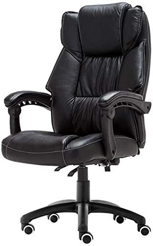 CSD Chair Home Office Desk Presidenza di Cuoio Faux Grande sede Tavoli e sedie da Computer Sedile Regolabile Altezza Tilt Funzione portante Peso 150kg Nero