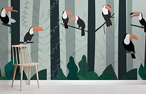 Home Animal Hintergrundbild Bird Hintergrundbild Illustrierte Tukan Regenwald Baldachin...