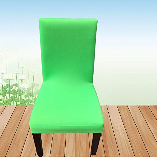 SIWANG Stretch Stuhlhussen,Stretch Dining Chair Covers Grüne Halblange Halfpack-Stuhlhülle Protector for Hotel Home Party Restaurant Dekor, 6-TLG