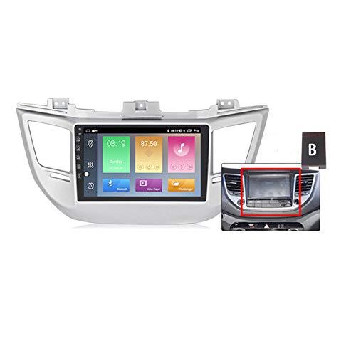 Android10 Radio Coche 2 DIN para Hyundai Tucson 2014-2018 con Pantalla HD Autoradio con GPS navi Manos libres bluetooth Enlace espejo Admite Mandos del Volante + cámara trasera(gift),B,M150