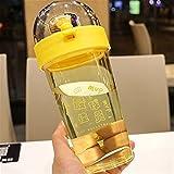 Botella de Agua de 500 ml Juego de Baloncesto Divertido Taza de Agua plástica Estudiante de Gran Capacidad Deportes Botellas de Agua Yixianjiacheng (Capacity : 500ml, Color : Yellow)