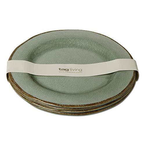 TAG Verand a Melamine Dinner Plate Set Of 4 Dinner Plate Set of 4 Green