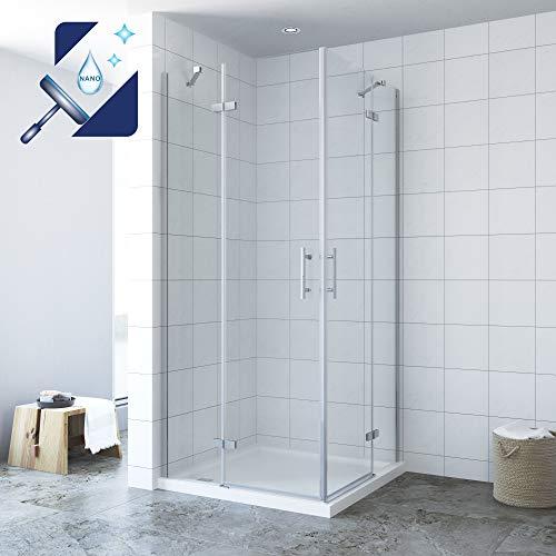 Para mampara de ducha cuadro funshirt de 90 x200cm entrada por la esquina plegable puerta easyclea mampara de cristal accesorios de Alpes Berger