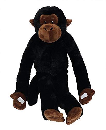 PIA International Stofftier Hängeaffe, schwarz, 95 cm, hängend, Kuscheltier Plüschtier, AFFE Affen Hängeaffen