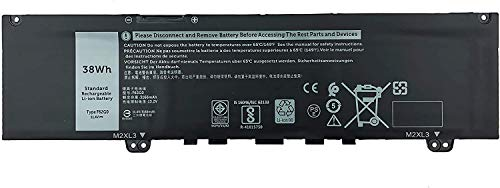 Topnma F62G0 Battery for Dell Inspiron 13 5370 7000 7370 7380 7386 7373 2-in-1 P83G P83G002 P87G Vostro 13-5370-D1505G R1605S D1525S D1605S Series F62GO CHA01 RPJC3 39DY5 [11.4V 38Wh 3166mAh]