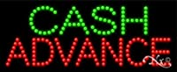 11x27x1 インチ 現金 アドバンス アニメ 点滅 LED ウィンドウ サイン