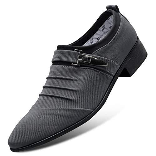 Zapatos de Lona de los Hombres Pisos Transpirables Casuales Vestido Formal de Negocios de Oficina Boda Vintage Slip on Mocasines