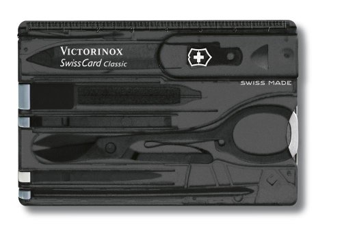 Victorinox SwissCard Onyx transp. m/EAS Blister VIC