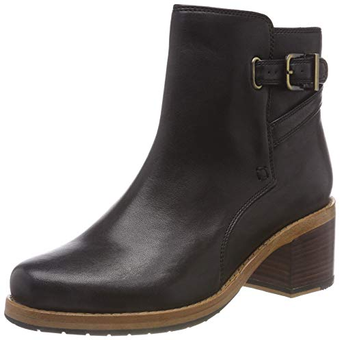 Clarks Clarkdale Jax, Stivaletti Donna, Nero (Black Leather -), 39 EU