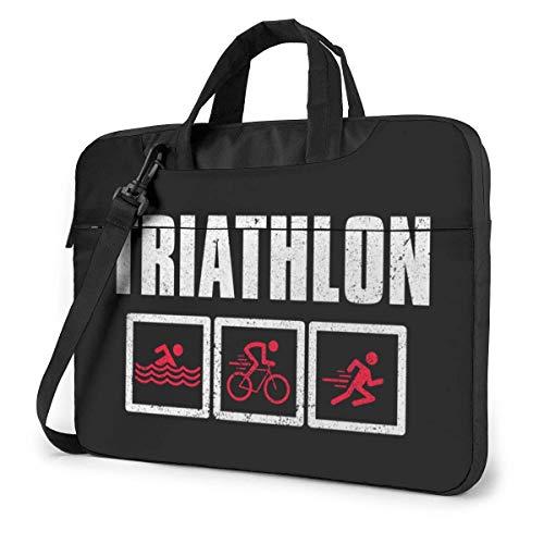 15.6 inch Borsa Trasporto per Laptop Portatile Borsa Messenger Custodia da Trasporto Custodia Triathlon