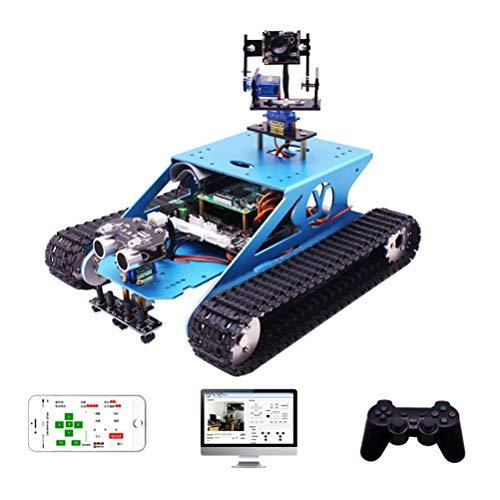 ANAN Robot Inteligente inalámbrico con Comunicación Bluetooth + WiFi for Building, Raspberry Pi 4B Robot con Brazo robótico 2-DOF, Programming & Learning How to Code