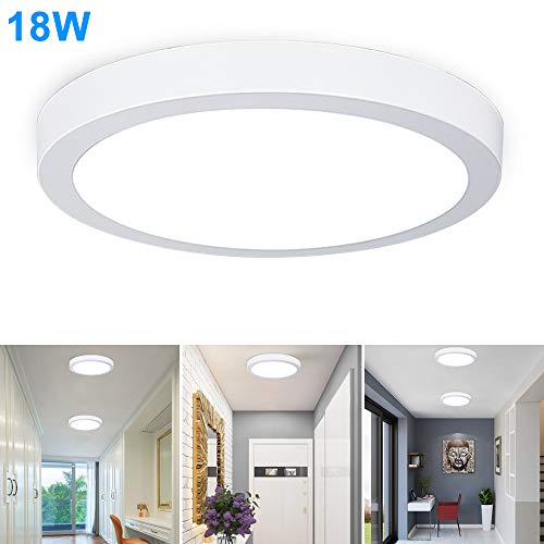 Surface Mounted Ceiling Lights 18w Led Flush Mount Ceiling Light Round 8 86 1400lm Replace120w Halogen Bulb Equivalent Daylight White 5000k Wall Fixture Lamps For Kitchen Dining Room Bathroom Buy Online In Faroe