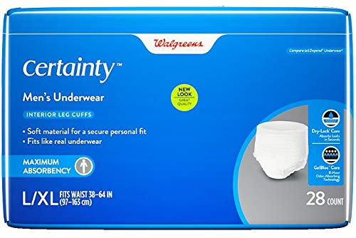 Walgreens Certainty Men's Underwear Maximum Absorbency, L/XL 28 ea