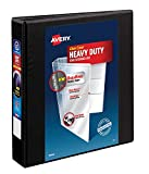 Avery Heavy Duty View 3 Ring Binder, 1.5' One Touch EZD Ring, Holds 8.5' x 11' Paper, 1 Black Binder (79695)