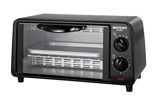 Bastilipo Mini Toaster-Turin Black 800 W, roestvrij staal, zwart, 9 l