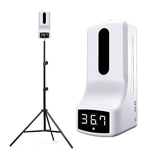 Termómetro sin contacto de pared 1000ml Dispensador de jabón de alta capacidad K9 PRO Máquina automática de medición y desinfección de temperatura con alarma,K9 pro+stand