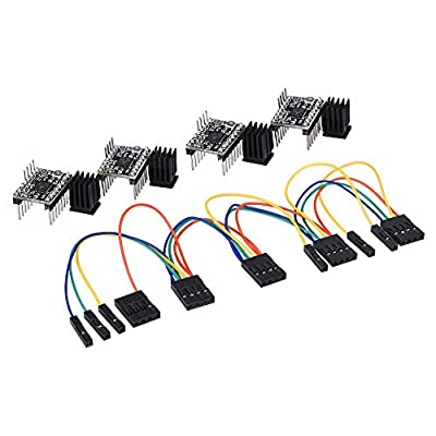 PoPprint TMC2130 V1.1 SPI Motor Driver Silent Board With Heat Sink And A Aet Wire For 3D Printer (TMC2130 Pack of 4)