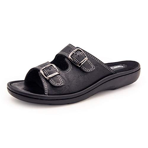 Zomerkleding dames sandalen en pantoffels mode licht en veelzijdig middelste hiel eenvoudige vrije tijd 1-woord-vakantie dagelijks strand aan zee comfort zomersandalen en pantoffels