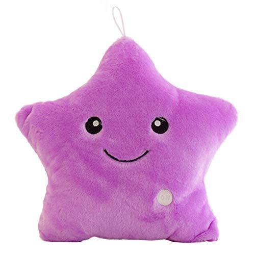 Peahop Kreatives Spielzeug-leuchtendes Kissen-weiches angefülltes Plüsch-glühendes buntes Stern-Kissen führte helle Spielwaren