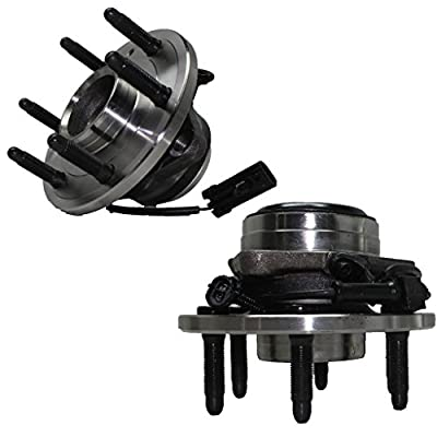 Detroit Axle - 2WD Only 6-Lug Front Driver and Passenger Side Wheel Hub and Bearing Assembly for - 2WD Only 2000-2006 Silverado 1500, Sierra 1500, Yukon No Denali or Z71