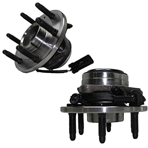 Detroit Axle - 2WD Only 6-Lug Front Wheel Bearing Hub Assembly for - 2WD Only 2000-2006 Silverado 1500, Sierra 1500, Yukon No Denali or Z71 - Driver Passenger