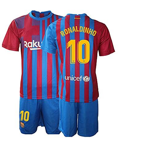 NACP New Niños RONALDINHO No.10 Camiseta de Futbol Ropa Deportiva de Secado Rapido (22)