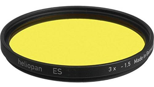 Heliopan 703704 Dunkelgelb-Filter, 37 mm, Gelb, Mittelgelb (8), gelb, 62mm