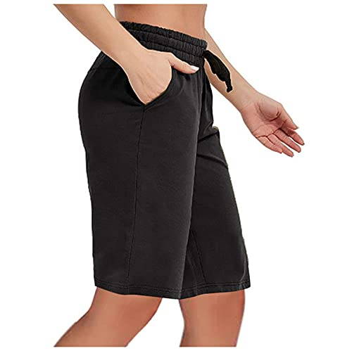 YHAIOGS Hiking Shorts Women Yoga Pants for Women Women's Loose Casual Sweatpants Sports Five-Point Pants Black
